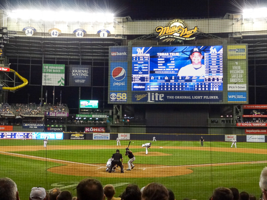 The View Behind Homeplate at Miller Park