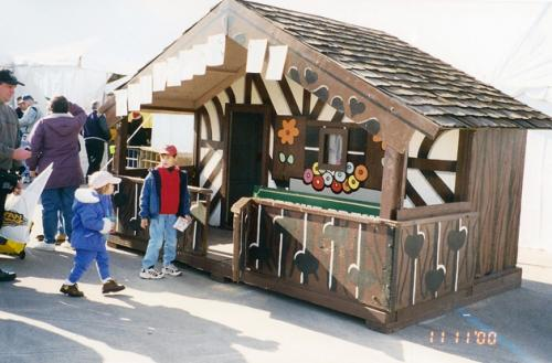 Bernie Brewer's chalet was one of the most popular items being sold.